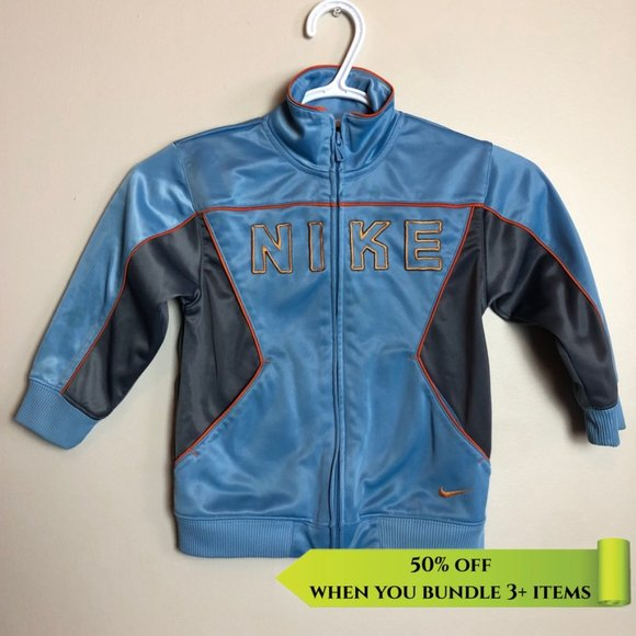 Nike Zip Up Blue Sweater - Size 4T